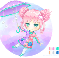 Chibi Adopt 6: The Pink Panda Girl [CLOSED] by RebeccaAlexa