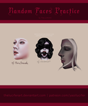 Random faces (low resolution) by TheLuciferArt