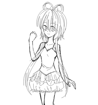 Sketch Luo Tianyi by CLAMICLAMI3