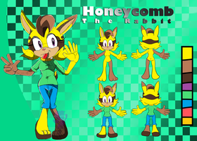 .:Ref Sheet:. Honeycomb the Rabbit by GaLaCtIcDo0dLeR