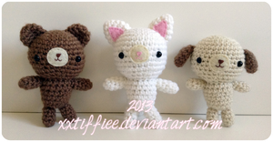 Bear, Cat, and Dog - Free Pattern by xxtiffiee
