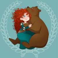 Merida Hug by Bisc-chan
