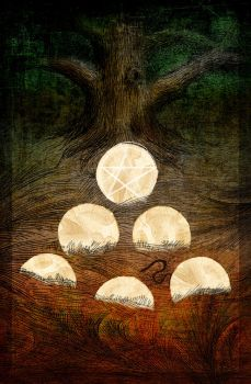 Six of Pentacles by karacol