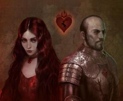 Stannis and Melisandre by BellaBergolts