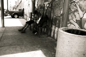 Lonely Bass Player by PhillyPuddy