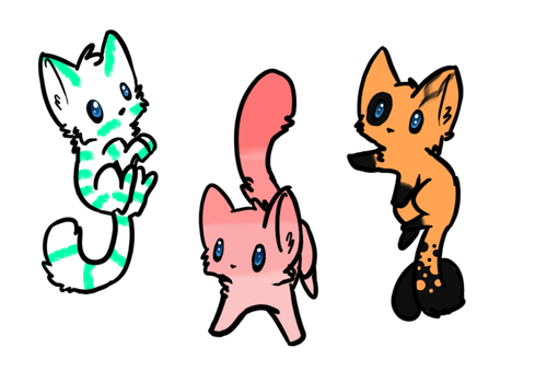 Kitten Adoptables (CLOSED) by brookb12