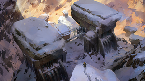 snowy fortress by Nonparanoid