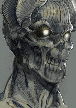 Demon Head X by ManiacPaint
