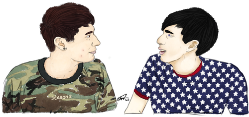 dan and phil by Twiggy-Redwolf