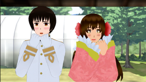 [MMD] Hetalia - Kiss him Not me by unluckypuppet