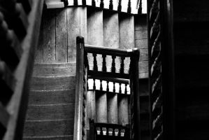 Down the stairs by BWozniakPhotography