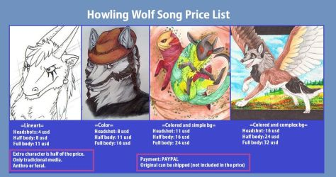 Comission Prices 2017 by HowlingWolfSong