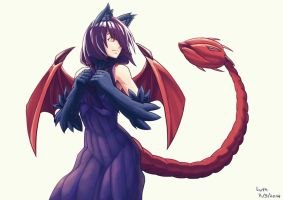 Reri the manticore girl by Lutherniel