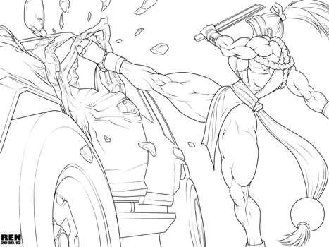 Masami destroys the car by RENtb
