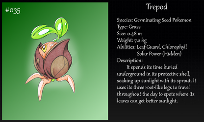#035 Trepod Pokemon by Angel-Moonlightwolf