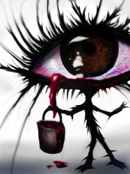 The eye with a bucket of blood by peetah21