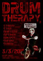 DRUM THERAPY 5 flyer by 2NiNe