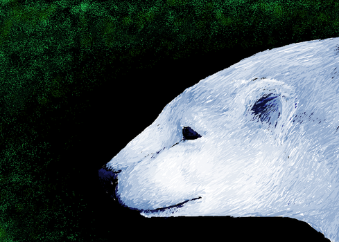 MS Paint Polar Bear by dancingfoxbird