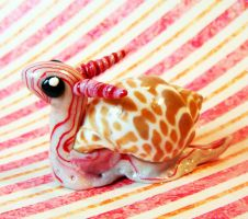 Baby CandyStripe Dragon Snail by MaryBunnie