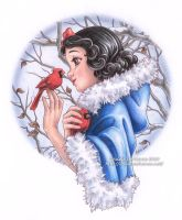 Snow White Winter by Saimain