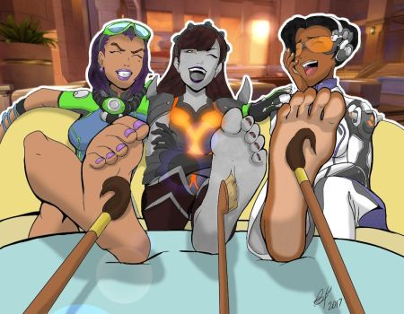 More Ow Foot Tickles By Bad Pierrot (Colored) by TicklishPixels