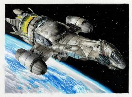 Serenity Base Card art for Upper deck card set by Kapow2003