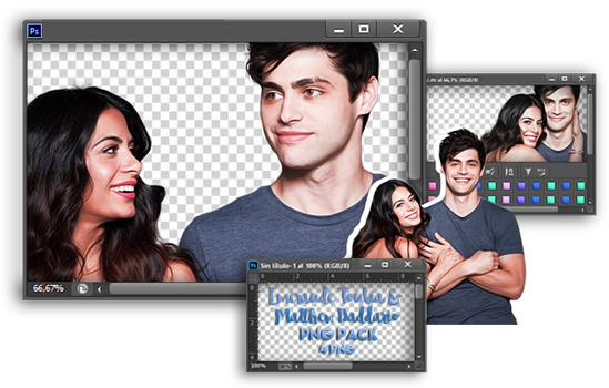 Matthew Daddario y Emeraude Toubia Png Pack by valeryscolors