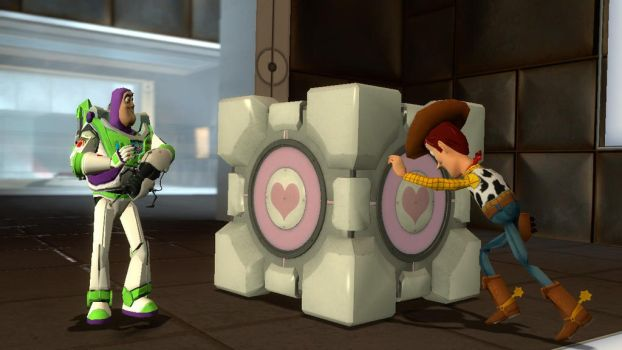 Woody and Buzz in Portal by JJsonicblast86