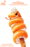 Daily Paint 2027# Popsnakel by Cryptid-Creations
