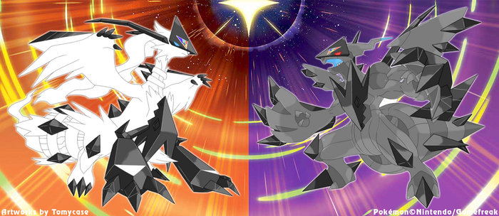 Necrozma Infection : Reshiram and Zekrom by Tomycase