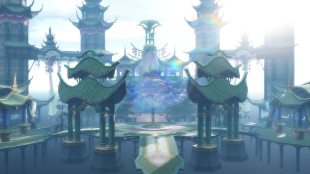 MMD Game china Stage: Bamboo House- DL by daucongluyen