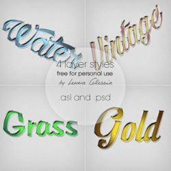 (Free) 4 coloful layer styles by LennaAlessia