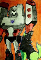 TFA Megatron and Starfire by PDJ004