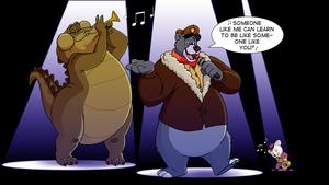 Commission - Baloo's Jazz Band by FantasyFlixArt