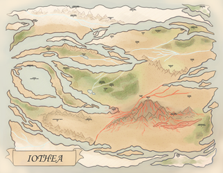 Gem Quest: Map of Iothea by nirnroots