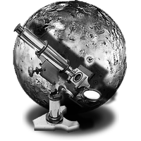Steampunk IO Moon GreyScale Icon by yereverluvinuncleber