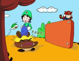 Game Grumps in Super Mario Bros. 3 by Fredcheeseburger