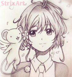 Sakura and Kero by StrixArt