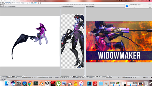 Widow Maker Painting Preview by avenirdesign