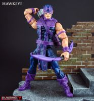 Marvel Legends Classic Hawkeye custom figure by Jin-Saotome