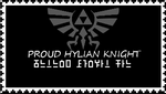 Hylian Knight Stamp: Silver by kingjames777