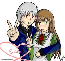 Prussia x Hungary Smile by HeyAnn