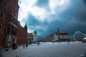 Awaiting the tempest in Warsaw by Rikitza