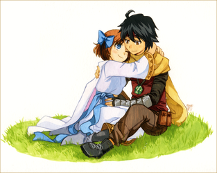 Reize and Lily by meago
