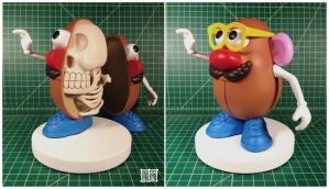 Mr Potato Head Skeleton by freeny
