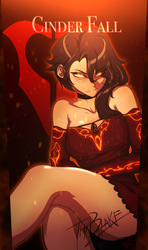 Cinder Fall - Anime Style by ThyBlake