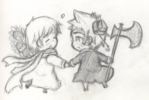 Request: RussiaxDenmark chibi by waterlily13