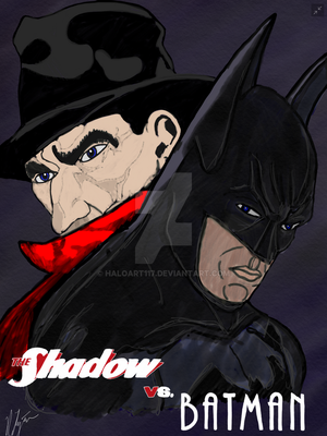 The Shadow vs Batman by HaloArt117