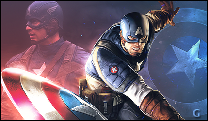Captain America by amelbg