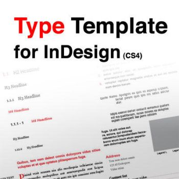 Type Template for InDesign by JorgenGedeon